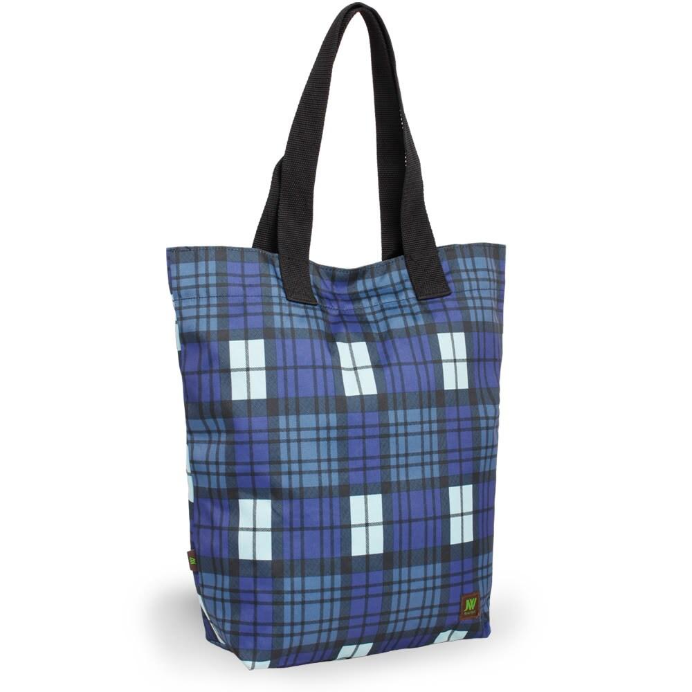 J World 'Leslie' Tartan Blue Tote Bag