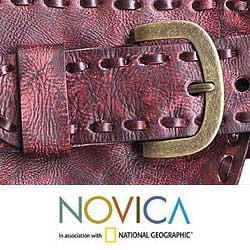 Leather 'Red Phenomena' Belt (Indonesia)