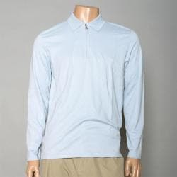 Calvin Klein Men's Zippered Long-sleeve Golf Polo