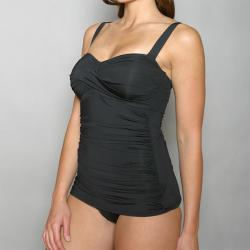 Jantzen Women's Black Maillot Vamp One-piece Swimsuit