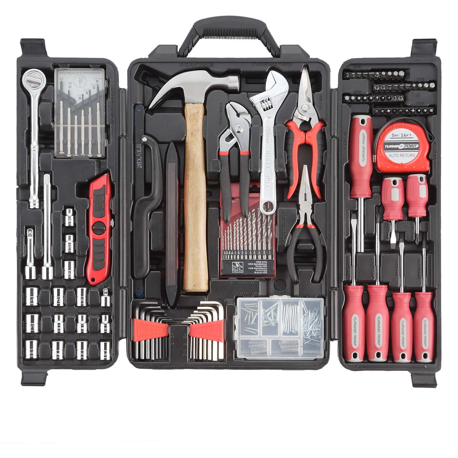 Turning Point 125-piece Home Essential Tool Set