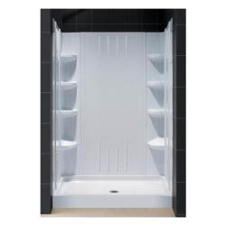 DreamLine Infinity Plus 60x72 Shower Door/ Amazon 32x60 Shower Base/ Backwall