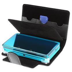 Black Leather Case for Nintendo 3DS