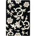 Handmade Soho Sillo Black New Zealand Wool Rug (2' x 3')