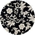Handmade Soho Sillo Black New Zealand Wool Rug (6' Round)