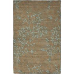 Handmade Soho Moments Light Brown New Zealand Wool Rug (5'x 8')