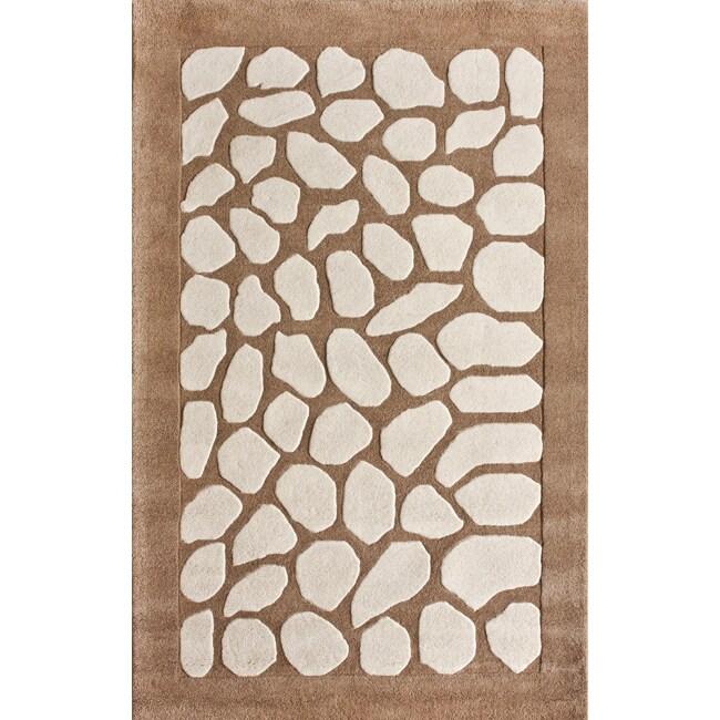 nuLOOM Handmade Pebble Wool Rug (7'6 x 9'6)