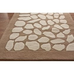 Handmade Alexa Pebble Wool Rug (7'6 x 9'6)