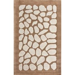 nuLOOM Handmade Pebble Wool Rug (7'6 x 9'6)