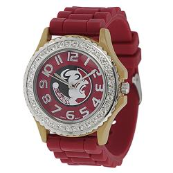 Geneva Women's Platinum Rhinestone Florida State Seminoles Watch