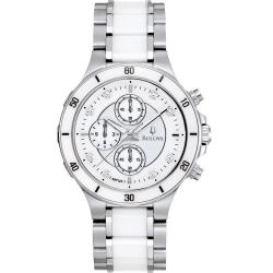 Bulova Women's Ceramic and Stainless Steel Chronograph Watch