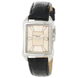 Bulova Women's 'Adventurer' Vintage-inspired Leather Strap Watch