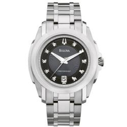 Bulova Precisionist Men's 'Longwood' Diamond Dial Bracelet Watch