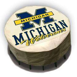 Michigan Wolverines Round Patio Set Table Cover