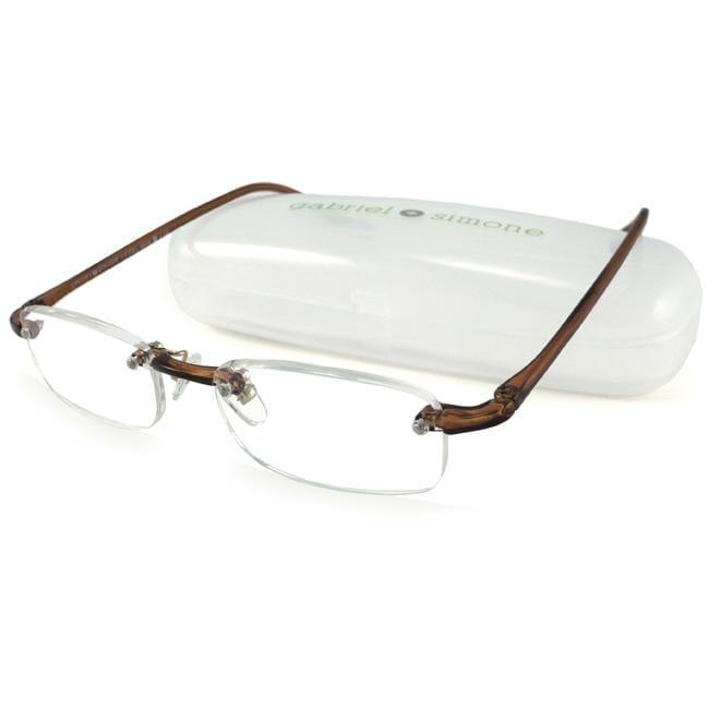 Gabriel+Simone Le Gel Brown Men's Reading Glasses