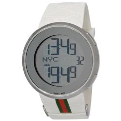 Gucci Men's 'I Gucci' Rubber Strap Digital and Analog Display Watch