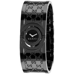 Gucci Women's 'Twirl' Black PVD Stainless Steel Bangle Watch
