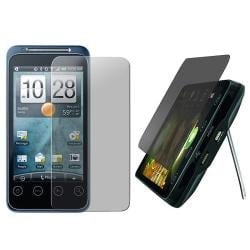 Snap-on Case w/ Privacy Filter Screen Protector for HTC EVO Shift 4G