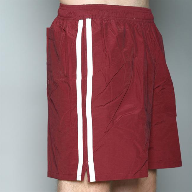 Speedo Men's Burgundy Twin Stripe Swimsuit