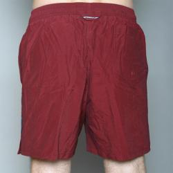 Speedo Men's Burgundy Twin Stripe Swimsuit