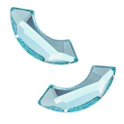 Beadaholique Aquamarine 14mm Austrian Crystal Flatback Rhinestones (Pack of 4)