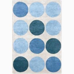 Hand-tufted Mandara Circles Wool Rug (8' X 11')