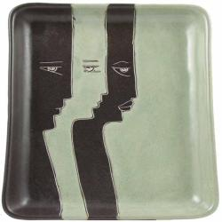 Mara Stoneware Square Rectangle Profiles Platter (Mexico)