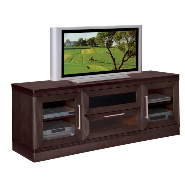 Transitional Wenge 70-inch TV and Entertainment Center