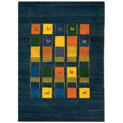 Safavieh Hand-knotted Gabeh Tribal Blue Wool Rug (6' x 9')