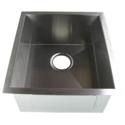 DeNovo 15.75-inch Single Bowl Undermount Stainless Steel Kitchen/ Bar Sink