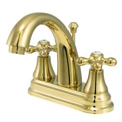 English Classic Two-Handle Polished Brass Bathroom Faucet