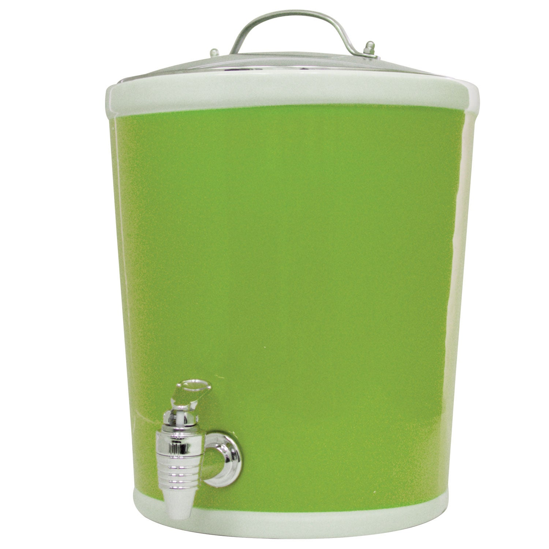 American Atelier Lime Green 330-oz Beverage Dispenser