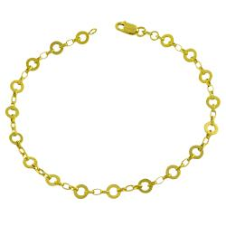 Fremada 14k Yellow Gold Alternate Flat Rolo Link Bracelet