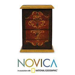 Handcrafted Cedar Wood 'Classic Elegance' Jewelry Box (Peru)