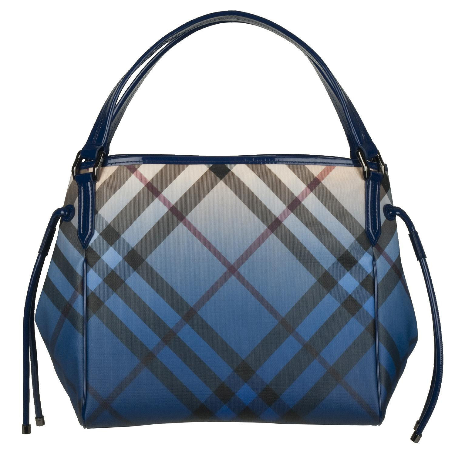Burberry Blue Gradient Check Shopper Bag