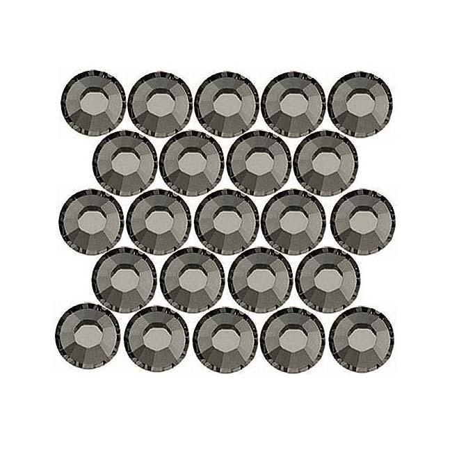 Beadaholique Black Diamond ss12 Crystal Flatback Rhinestones (Pack of 50)