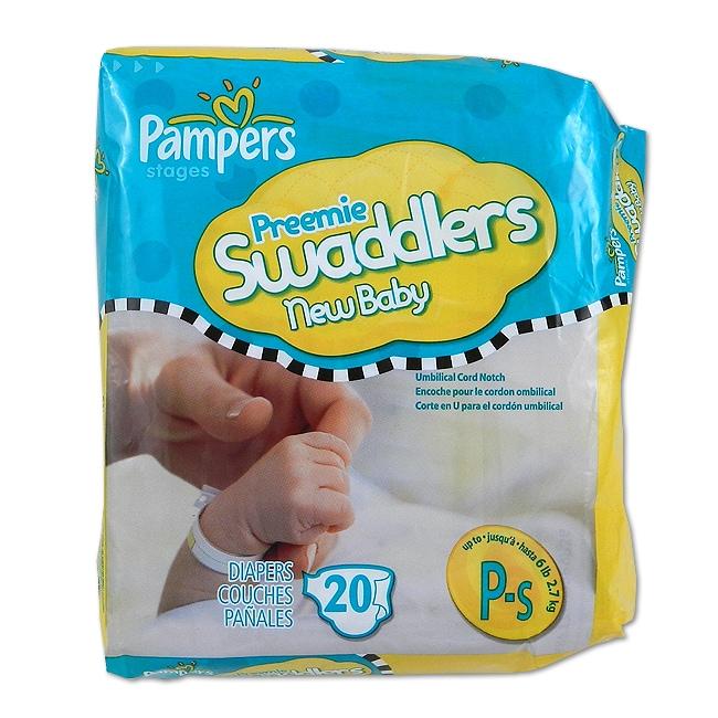 Pampers Preemie Swaddlers Diapers (Case of 240)