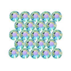 Beadaholique Aquamarine AB ss12 Crystal Flatback Rhinestones (Pack of 50)