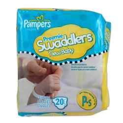 Pampers Preemie Swaddlers Diapers (Case of 240)