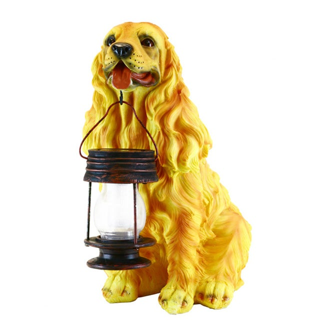 Cocker Spaniel Dog LED Solar Garden Light