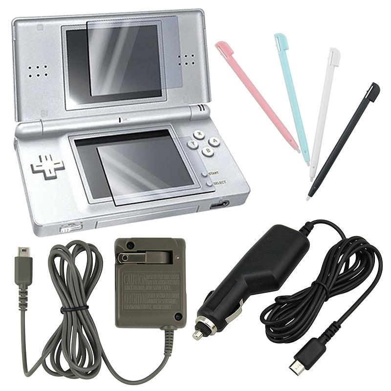 4-piece Sylus Set/ Screen Protector/ Chargers for Nintendo DS Lite