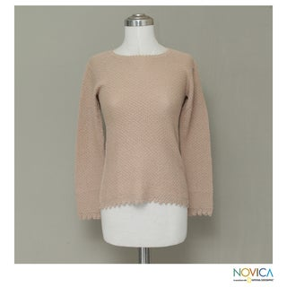 Alpaca 'Honeycomb Lace' Sweater (Peru)
