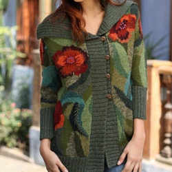 Alpaca 'Poppies' Sweater (Peru)