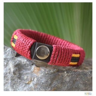 Handcrafted Men's 'Spirit of Africa' Wristband Bracelet (Ghana)