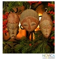 Set of 3 Sese Wood 'Three Kings' Ornaments (Ghana)