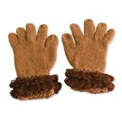 Alpaca 'Brown Andean Flapper' Gloves (Peru)