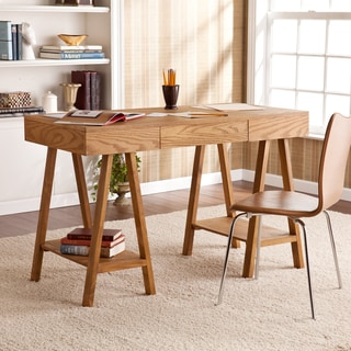 Upton Home Windhorst Oak Writing Office Desk