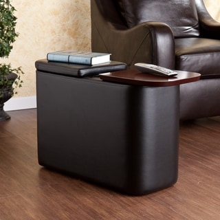 Upton Home Hatcher Black Entertainment Companion Table