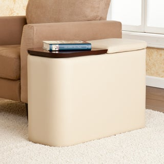 Hatcher Taupe Entertainment Companion Table