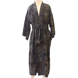 Cotton Men's 'Star Quest' Batik Robe (Indonesia)